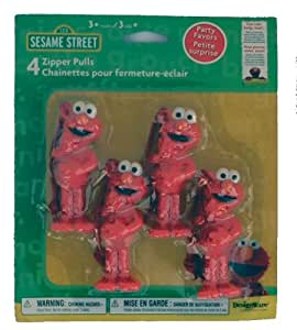 Elmo Zipper Pulls (4 count) by Sesame Street