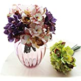 Generic Purple : Free Shipping (7 Flower Heads/piece)artificial Flowers Cheap Orchid Decoration Flower For Home Decoration