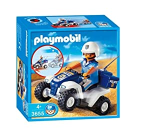 playmobil 3655 jeu de construction policier quad jeux et jouets. Black Bedroom Furniture Sets. Home Design Ideas