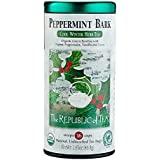 The Republic Of Tea Organic Peppermint Bark Herb Tea, 36 Tea Bags, Fusion Of Cocoa And Peppermint Tea
