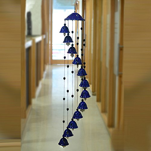 ExclusiveLane Melodious Sound Ceramic Wind Chimes - Wall Hanging Wall Decor Gift Items