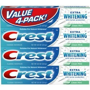Crest value 4-pact - 4 / 8.0 oz fluoride extra