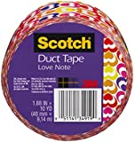 Scotch Duct Tape, Love Note, 1.88 Inch x 10 Yards