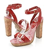 Qupid Lorina02 Heels Red 6 Red