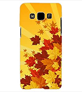 ColourCraft Beautiful Leafs Design Back Case Cover for SAMSUNG GALAXY A3