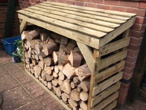Wooden Log Store - READY BUILT - Treated Timber