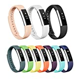 Vancle Fitbit Alta Bands, Newest Adjustable Replacement Bands for Fitbit Alta/ Fitbit Alta band/ Fitbit Alta Bands (with Metal Clasp,No Tracker)(White,Large)