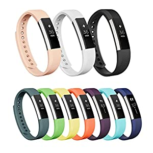 Vancle Fitbit Alta Bands, Newest Adjustable Replacement Bands for Fitbit Alta/ Fitbit Alta band/ Fitbit Alta Bands (with Metal Clasp,No Tracker) (Blush Pink, Small)