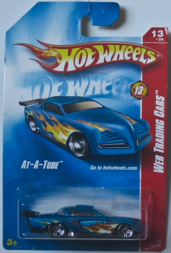 Hot Wheels 2008-089 At-A-Tude BLUE w/Flames Web Trading 1:64 Scale