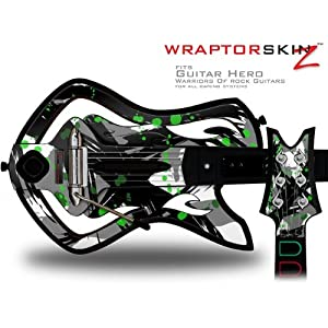 Buy .com: Warriors Of Rock Guitar Hero Skin - Abstract 02 Green (GUITAR