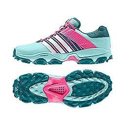 adidas adistar 4 Ladies Hockey Shoe, Green/Pink, US6.5