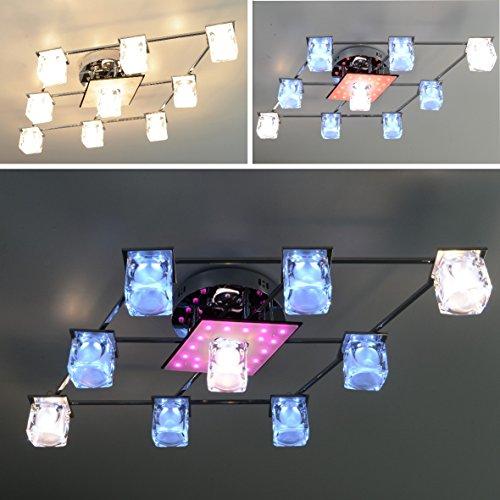 """NEU Deckenlampe Deckenleuchte Lampe Leuchte """"Ingrid"""" 9-Leuchten LED Wohnzimmerlampe Chrom Wohnzimmerleuchte Beleuchtung Modern LED"""