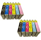 2X T 807 COMPATIBLE INK CARTRIDGES TO REPLACE EPSON PX720WD PRINTER - Double Capacity Latest Chip - Pack Replaces (T 801 / Black , T 802 / Cyan, T 803 / Magenta , T 804 / Yellow, T 805 / Light Cyan , T 806 / Light Magenta) - 100% GUARANTEED TO WORK IN EX