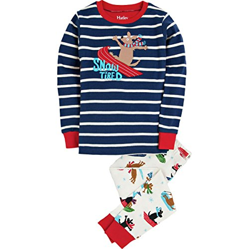 Hatley Little Boys' Pajama Set Applique -Sledding Dogs, Multi, 8