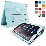 Snugg⢠iPad Air 2 Case - Smart Cover with Flip Stand & Lifetime Guarantee (Baby Blue Leather) for Apple iPad Air 2 (2014)