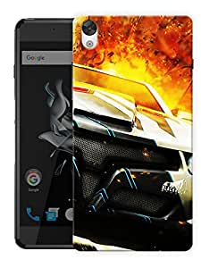 """Humor Gang Speed Car Sports Printed Designer Mobile Back Cover For """"OnePlus X"""" (3D, Matte, Premium Quality Snap On Case)"""
