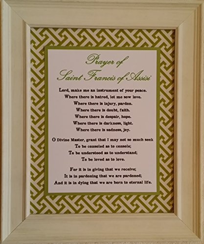 Prayer of St. Francis - Framed Inspirational Catholic and Christian Wall Art