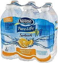 Nestle Pure Life Splash Drink Mandarin Orange 169 Fluid Ounce Pack of 6