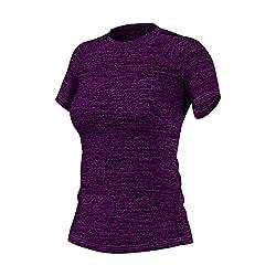 Adidas Women's Plain T-Shirt (AX9262_Purple_XL)