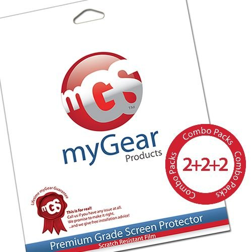 myGear Products 2 CLEAR & 2 ANTI-GLARE & 2 DIAMOND Combo Pack Screen Protectors for HTC EVO View 4G (6 Pack)