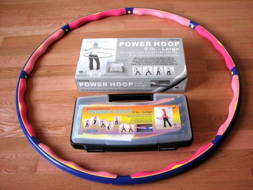 Weighted Sports Hula Hoop for Weight Loss – Power Hoop 5B 5 Lb. With or