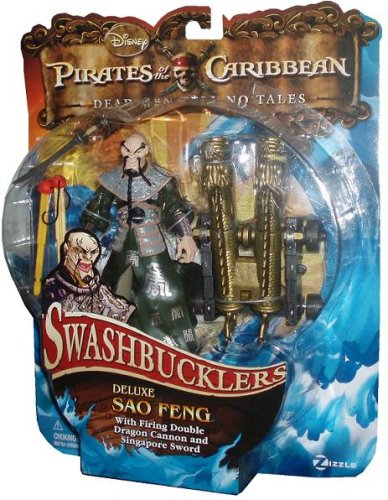 PIRATES OF THE CARIBBEAN DEAD MEN TELL NO TALES DELUXE SAO FENG WITH FIRING DOUBLE DRAGON CANNON AND SINGAPORE SWORD - 1