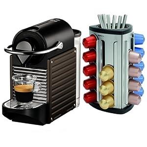 Nespresso pixie c60 electric brown espresso machine plus bonus 30 - Capsule nespresso pixie ...