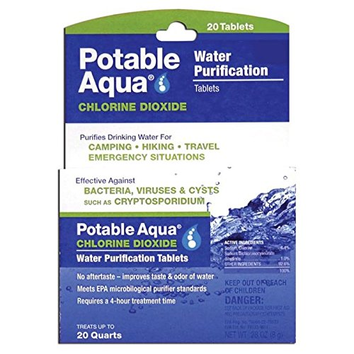 Potable Aqua Chlorine Dioxide Tablets Qty 20 (Dioxide Chlorine compare prices)