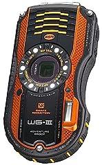 PENTAX 防水デジタルカメラ PENTAX WG-3 オレンジ 1cmマクロ マクロスタンド付属 LEDライト PENTAX WG-3OR 12696