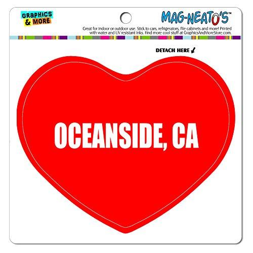 MAG-NEATO'S(TM) Car Refrigerator Vinyl Magnet I Love Heart City State O-R - Oceanside CA (Oceanside Ca compare prices)
