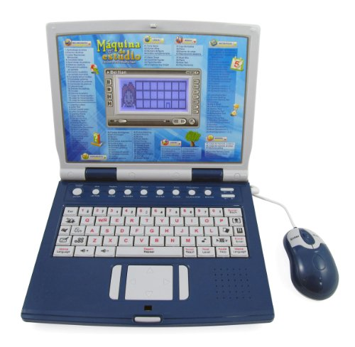 Advanced Bilingual Learning Laptop For Kids With Full Color Screen And Mouse + Learn English / Spanish + Educational Games For Children front-57815