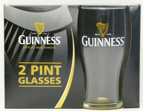 Guinness Pint Glass 2 Pack