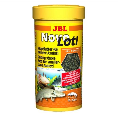 JBL Alleinfutter für klein Axolotl, Perlen 250 ml, Novo Lotl 30353, 1er Pack (1 x 250 ml)