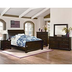 brooklyn sleigh bedroom set queen 5 pc set