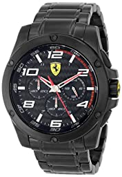 Ferrari Men\'s 830033 Analog Display Japanese Quartz Black Watch