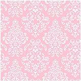 York Wallcoverings Just Kids KD1754 Delicate Document Damask Wallpaper, Pink