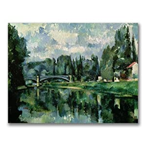 Trademark Fine Art The Banks of the Marne at Creteil by Paul Cezanne Canvas Wall Art, 18x24-Inch