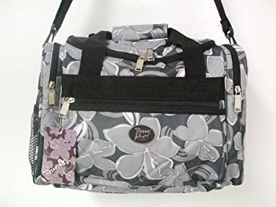 """15"""" Black Floral Pour Moi Ladies Girls Sports Gym Holdall Onboard Flight Cabin Bag from Jazzi Pour Moi"""