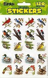 Eureka Birds Stickers, 120 Per Pack