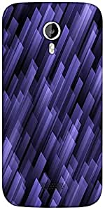 Snoogg abstract violet background Designer Protective Back Case Cover For Micromax A116