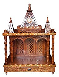 Aarsun Wooden Temple/Mandir in Seasoned Sheesham Wood