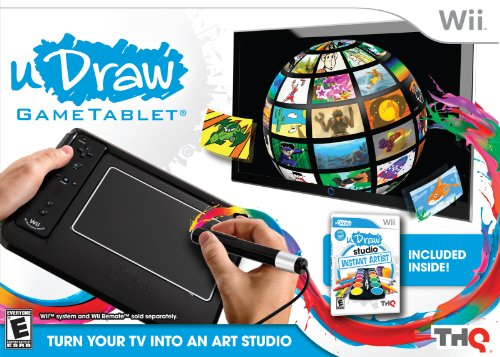 uDraw Game tablet with uDraw Studio: Instant Artist - Black - Nintendo Wii (Super Hero Squad Video Game compare prices)