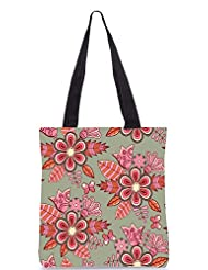 Snoogg Abstract Floral Background Designer Poly Canvas Tote Bag - B012FU9U26