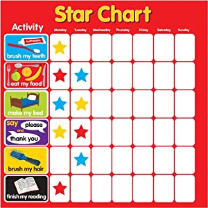 reward star chart magnetic rigid square 32x32cm with