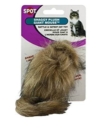 Ethical Shaggy Plush Giant Mouse Cat Toy with Catnip from Ethical Products/Fashion Pet