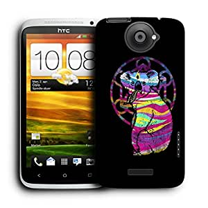 Snoogg Colorful Animal Designer Protective Back Case Cover For HTC ONE X