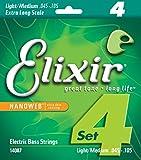 Elixir エリクサー ベース弦 NANOWEB ニッケル EX-Long Scale Light/Medium .045-.105 #14087 【国内正規品】