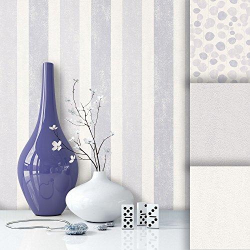tapete edel vlies creme grau streifen sch nes floral design und purer luxus effekt moderne. Black Bedroom Furniture Sets. Home Design Ideas
