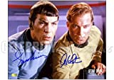 Star Trek Nimoy and Shatner Autographed Photo: 8x10 - Autographed NHL Photos