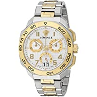 Versace Dylos Chronograph Silver Dial Mens Watch